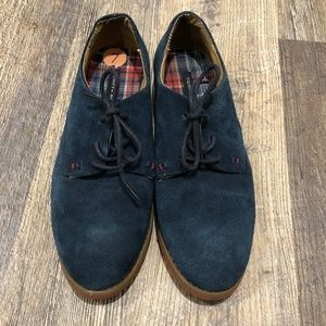 Tommy Hilfiger Honeybee Blue Suede Shoes